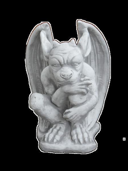 Steinfigur Gargoyle mit spitzen Flügel