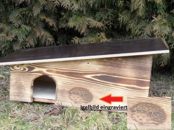 XXXL Igelhaus geflammt 80cm x 40cm x 32cm-