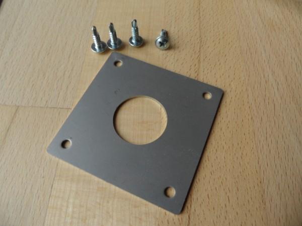 Edelstahl Spechtschutz mit 28mm Einflugloch, für Blaumeise