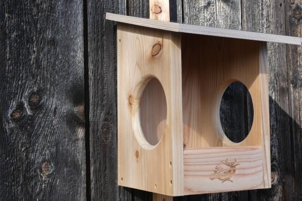 Amsel Witterungsbeständig imprägniert NIstkasten aus 18mm Lärchenholz für die Amsel-