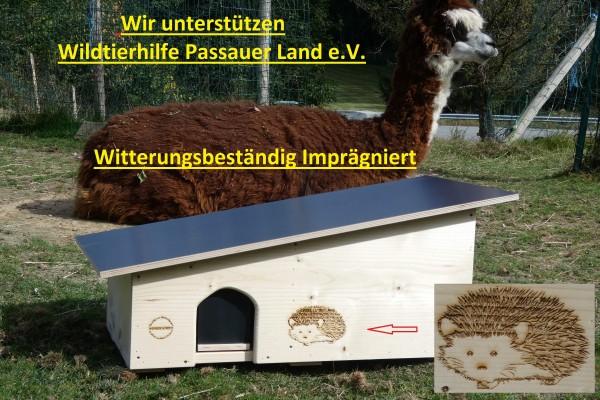 XXXL Igelhaus 2x von Hand witterungsbeständig imprägniert 80cm x 40cm x 32cm