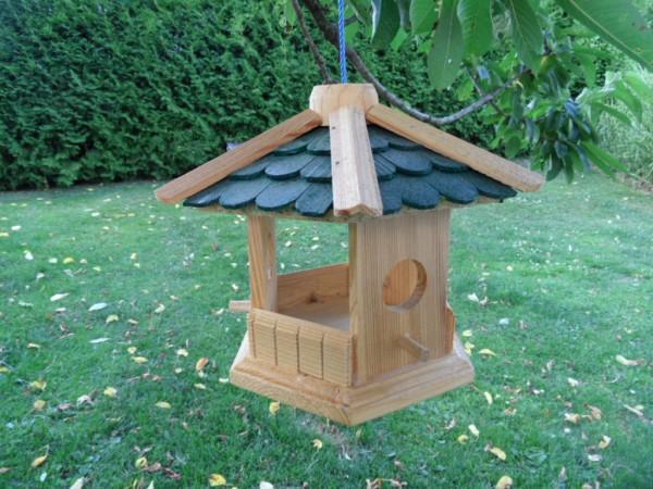 Robustes Vogelhaus XL Futterhäuschen grün
