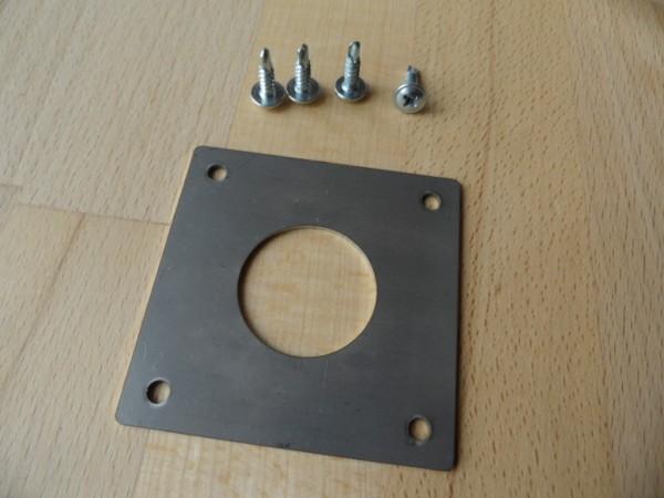 Edelstahl Spechtschutz mit 32mm Einflugloch , für Kohlmeise